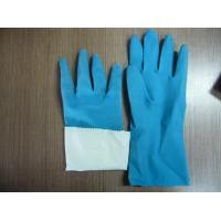 China flocklined rubber household latex gloves wholesale