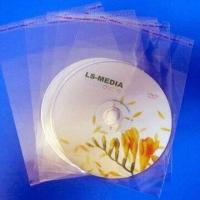 China 3cm OPP Plastic Sleeves for CD/DVD Disc, Self-adhesive in Nature wholesale