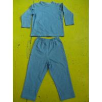 China Solid Colors Children'S Cotton Pajamas Simple Boys Two Piece Pajamas Lightweight wholesale