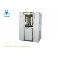 China One Person Mirror SS304 Air Shower Room With UV Light wholesale