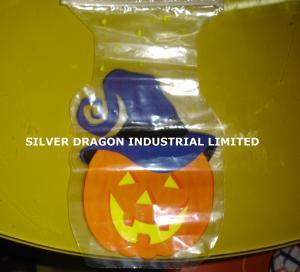 China Irregular-shaped plastic bag with ziplock wholesale
