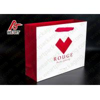 Red Heart Printed Paper Gift Bags For Christmas Matt Lamination Suface Manufactures