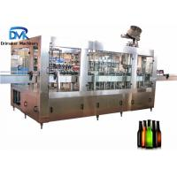China Round Square Glass Bottle Soda Filling Machine 18 Filling Heads 3500kg Weight wholesale