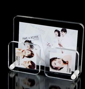 China Black Pretty Clear Acrylic Photo Frame / Wedding Photo Frame Standard Size wholesale