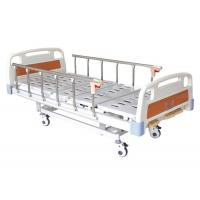 China Foldable Metal 3 Crank Hospital Bed Hand Control Comfortable Removable Easy Cleaning wholesale