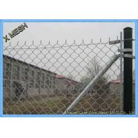 9 Gauge Galvanized / Chain Link Fence Fabric Wire Mesh Fencing SGS Listed