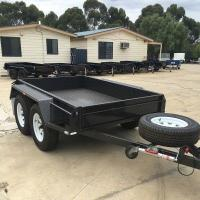 China High Side 10x6 Flatbed Tandem Box Trailer With Full Checker Plate on sale