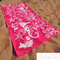 China Full Color Reactive Custom Printed Beach Towels Easy Carrying Eco Friendly wholesale
