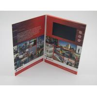 China Business Paper Lcd Video Mailer , Lcd Invitation Card A4 / A5 / A6 Finish Size wholesale