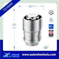 China Length 40mm Chrome Wheel Lock Nuts Covers ,Thread Size M12 (1.25 , 1.50 , 1.75) wholesale