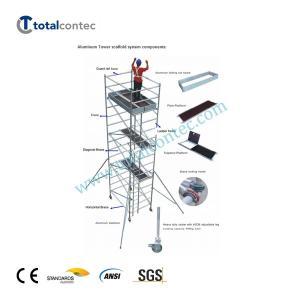 China Single/Double width aluminum mobile tower aluminum scaffolding on sale