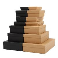 China Eco Friendly  Lid And Base Box Fancy Paper And Kraft Paper square gift boxes with lids wholesale