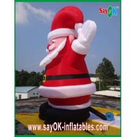 China Christmas Giant Santa Claus Inflatable Cartoon Characters Decoratio Red on sale