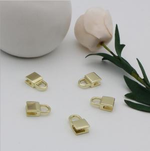 China OEM design bag making accessories fashion light gold decorative metal lock parts wholesale