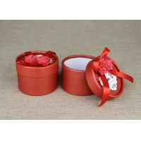 China Red Mini Cardboard Paper Cans Packaging with Ribbon and Tag on sale