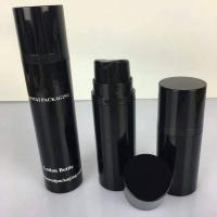 China 15ml 30ml 50ml a series black  cosemtic airless bottle for men's skincare wholesale