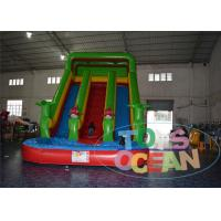 China Jungle Tree Inflatable Water Slide With Fish Pool Backyard Party 15OZ Lead Free wholesale