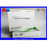 China Paper Medicine Packaging Box Silver Foil Metallic For Hgh Injections Growth Hormone on sale