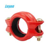 China Grooved Rigid/Flexible Coupling Fire Fighting Grooved Fittings DN50 - DN200 Ductile Iron Pipe Fittings wholesale