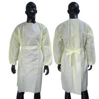 China Reinforced Disposable Protective Gowns White Color Durable Comfortable wholesale