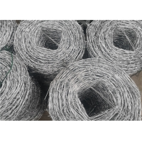 China 25kg Roll Galvanized Steel Cyclone Barbed Wire For Electro Fencing wholesale