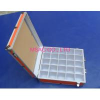 China Orange Aluminum Tool Cases / Acrylic Carrying Case With Slots For Display wholesale