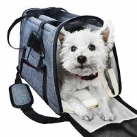 China Portable  Airline Approved Pet Carrier Bag With Backpack Belt Safety Locked Zippers wholesale