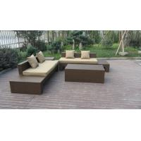 China Plastic Rattan Furniture Soft Set With 100x100x70cm Middle Sofa wholesale