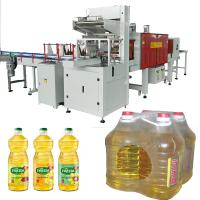 China Heat Thermal Shrink PE Film Wrapping Machine for Palm Olive Cooking Soybean Edible Oil 0.5L 1L 5LBottle Sleeve Type wholesale