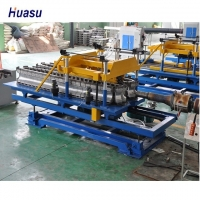 China PE/PP/PA/PVC Single Wall Corrugated Pipe Extrusion Line for Electric Casing Production Line on sale