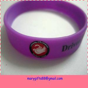 China free sample custom logo print silicone bracelet wholesale