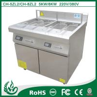 China Stainless steel Electric Radiation Deep Fryer 5KW/8kw 220V - 430V wholesale