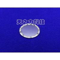 China Circular Plane Artificial Flat Watch Glass Ground And Beveled Edge Finish wholesale