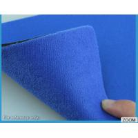 China 3MM - 7MM SBR Rubber Chemical Resistance With Shiny Terry Nylon Fabric wholesale