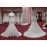 China Bridal Long Sleeve Mermaid Style Wedding Dresses / Sexy Satin Mermaid Wedding Dress wholesale