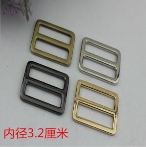 China High end zinc alloy 32 mm light gold metal adjustable slide buckles for handbags wholesale