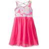 China Floral Top Little Girl Summer Dresses Size 7 Chiffon Criss Cross Back Dress wholesale