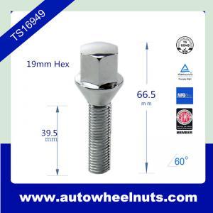 China Cold Forging Wheel M14 X 1.5 Lug Bolts With Cone Seat , Chrome Lug Bolts wholesale