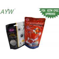 China Stand Up Food Packaging Pouches Clear Window For Fish Feeds / Dental Stick Dog Treats wholesale