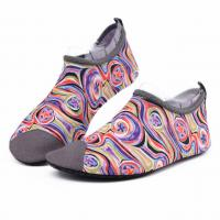 China Van Gogh Style Aqua Water Shoes / Protective Barefoot Slip On Swim Shoes wholesale