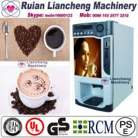 China nescafe coffee vending machine Bimetallicraw material 3/1 microcomputer Automatic Drip coin operated on sale