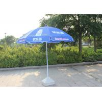 China Easy Open Slogan Round Outdoor Umbrella , Strong Colorful Beach Umbrellas wholesale