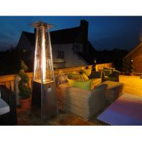China Powder Coated SS Square Patio Heater For Garden 490mm*490mm*25mm Base Size wholesale