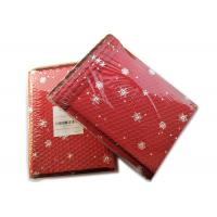 China Rigid Envelope Aluminium Metallic Bubble Mailer With Stunning Red Chirstmas Designs wholesale