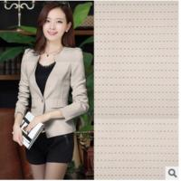 China Aqueous dyeing polyester spandex knit silk spot style suit fabric elastic fashion wholesale