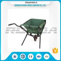 China Green Color Cloth Fold Away Wheelbarrow 5kg Water Resistant Cover For Gardeners wholesale
