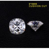 China Loose Moissanite Stone DEF Color Cushion Cut Moissanite Fancy Cut Grade VVS 9mm wholesale