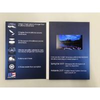 China Custom design paper material display digital video brochure 4.3'' LCD screen video invitation card for promotion wholesale