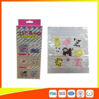 China Transparent Ziplock Reclosable Plastic Bags For Packaging With Colored Design on sale
