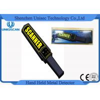 MD3003B1 OEM Hand Held Metal Detector Wands For Security , Yelllow Scanner Sticker Manufactures
